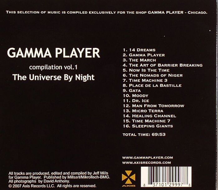 Jeff Mills - Gamma Player Vol 1 - The Universe by Night 2008