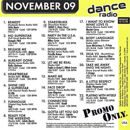 VA - Promo Only Dance Radio November (2009)