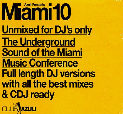 VA-Azuli Presents MIAMI10 (Unmixed for Dj's Only) (2010)