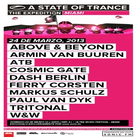 Armin van Buuren - A State of Trance Episode 600 - Live @ Ultra Music Festival in Miami, Florida (24-03-2013)