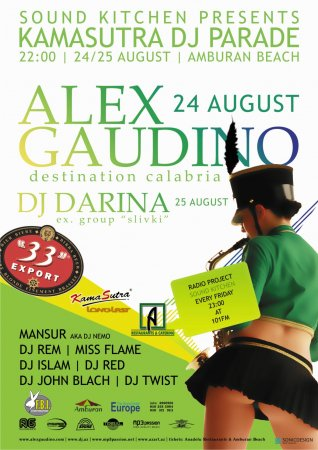 Alex Gaudino & Dj Darina @ Amburan Beach